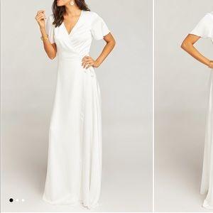 Show Me Your Mumu - Noelle Wrap Dress - Ivory